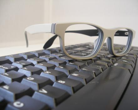 Computer -en kantoorglazen